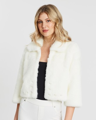 Unreal Fur Women's White Jackets - Precious Jacket - Size One Size, XS at The Iconic