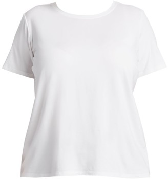 Eileen Fisher, Plus Size Short-Sleeve Cotton Tee