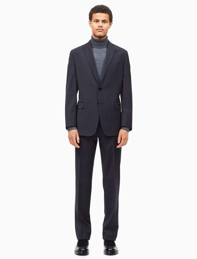 Calvin Klein big + tall solid dark grey suit
