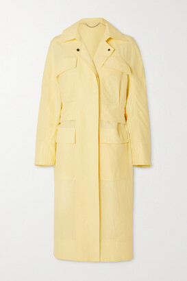 Salvatore Ferragamo Linen And Silk-blend Trench Coat