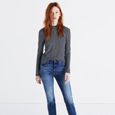 Madewell Melodic Mockneck Tee in Stripe