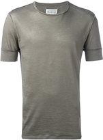 Maison Margiela exposed seam T-shirt - men - Cotton/Ramie - 54