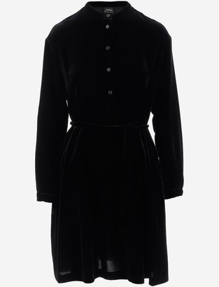 Aspesi Black Velvet Women's Dress