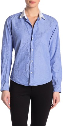 Frank And Eileen Barry Signature Crinkled Long Sleeve Woven Button Front Shirt