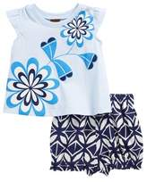 Tea Collection Blooming Florals Tee & Shorts Set