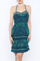 Anna Sui Printed Halter Dress