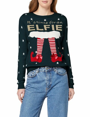 Only Women's ONLELFIE TIME L/S Pullover EX KNT Jumper