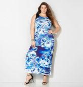 Avenue Floral Colorblock Sublimation Maxi Dress