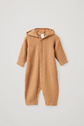 Cos Hooded Wool Babygrow
