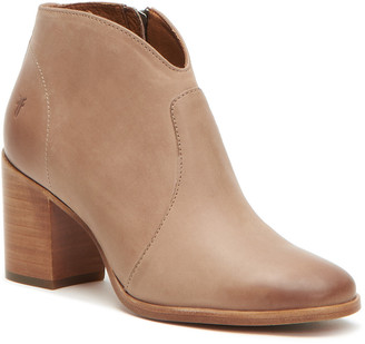 Frye Nora Zip Short Leather Bootie