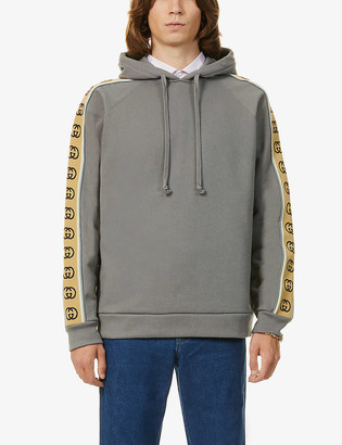 Gucci Logo-tape cotton-jersey hoody