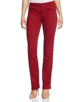NYDJ Marilyn Straight Leg Jeans in Poinsettia
