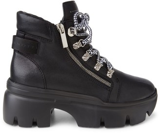 Giuseppe Zanotti Apocalypse Lug-Sole Leather Combat Boots