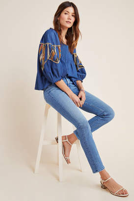 Mother The Dazzler High-Rise Straight Jeans