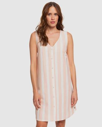 Roxy Womens Sense of Summer Sleeveless Linen Dress