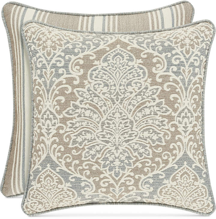 "J Queen New York Romano Ice Blue 20"" Square Decorative Pillow"