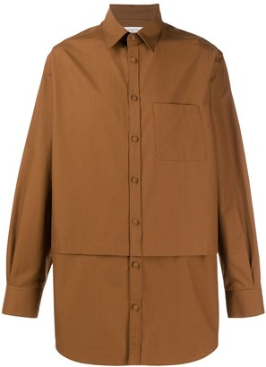 Valentino Layer Effect Buttoned Shirt