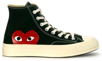 Comme des Garcons X Converse High Black Canvas Sneaker