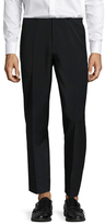 Ben Sherman Wool Solid Flat Front Trousers