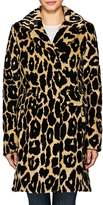 7 For All Mankind WOMEN'S OCELOT-PRINT FAUX-FUR COAT
