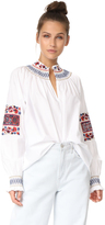 Tibi Cora Embroidered Tunic