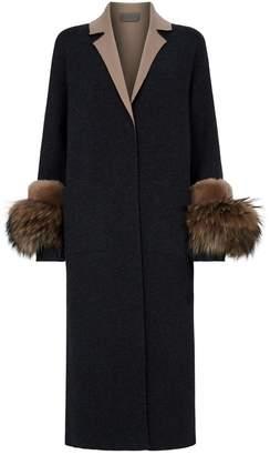 D-Exterior D.Exterior Fur-Trim Lightweight Coat