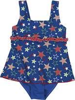 Playshoes Girl's UV Sun Protection Ruffle Skirt Bathing Suit Stars Swimsuit