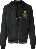 Dolce & Gabbana patch appliqué bomber jacket - men - Sheep Skin/Shearling/Polyamide/Polyester - 46