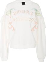 Cynthia Rowley Bedford Embroidered Tie Sleeve Sweatshirt