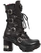 New Rock Black Leather M.Neotyre05 S1 Ready-Stock Neotyre Neotyre Women Neotyre New Available on 14-FEB-2017 Out of stock Pre-order Size 42