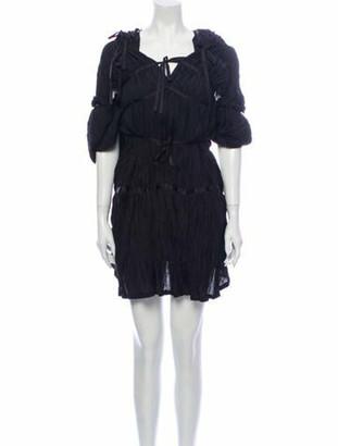 Junya Watanabe Square Neckline Mini Dress Black