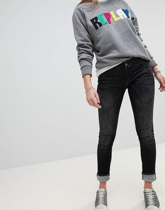 Replay Luz Skinny Jeans-Black