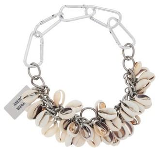 Chopova Lowena - Puka-shell Carabiner-chain Necklace - Womens - Silver