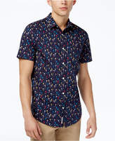 Original Penguin Men's Slim-Fit Palm Tree Cotton Shirt
