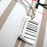 Pippa knowles jewellery Wide Barcode Tag Pendant