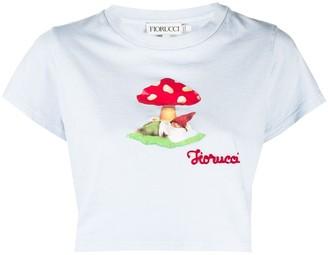 Fiorucci Mushroom cropped T-shirt