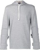 Comme des Garcons buckled sleeve hoodie