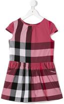 Burberry cap sleeve check dress - kids - Cotton - 4 yrs