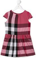 Burberry cap sleeve check dress