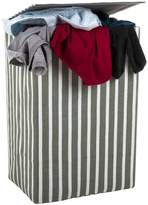 Minky Canvas Laundry Hamper Grey Stripe