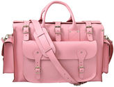 Grafea Pink Voyage Leather Holdall Pink