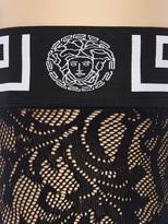 Versace GREEK LACE ELASTIC STOCKINGS