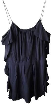 By Zoé Blue Silk Dress for Women