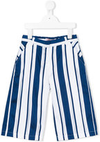 Miss Blumarine striped trousers - kids - Cotton/Polyester - 4 yrs