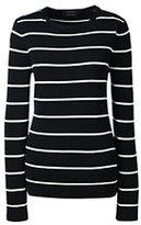 Classic Women's Supima Stripe Sweater-Bavarian Creme