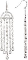 Carolee Crystal Fringe Chandelier Earrings