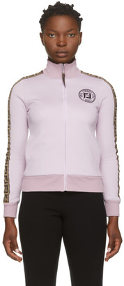 Fendi Pink Fendirama Zip-Up Sweater