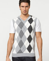 Le Château Silk Blend Argyle Sweater Vest