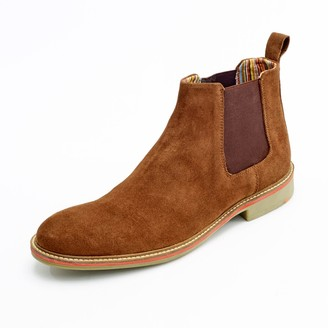 Curito® Curito London Mens Suede Leather Chelsea Boots - Tan