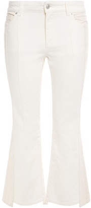 Alexander McQueen Two-tone High-rise Kick-flare Jeans